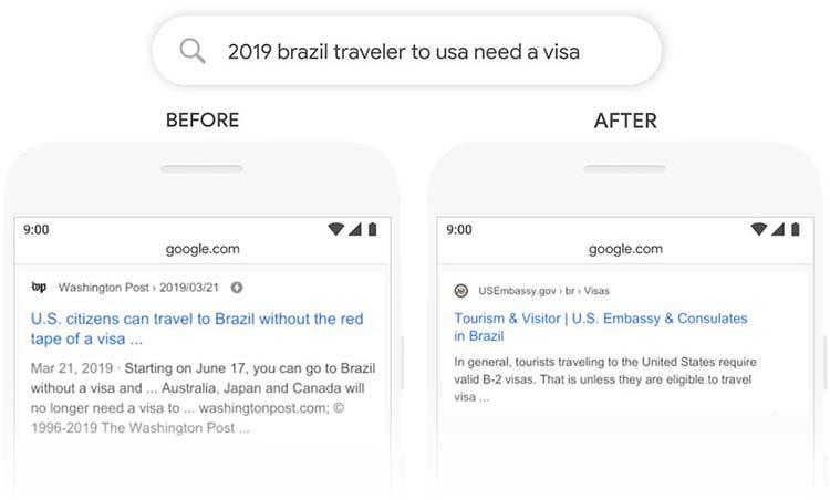Google的BERT算法更新
